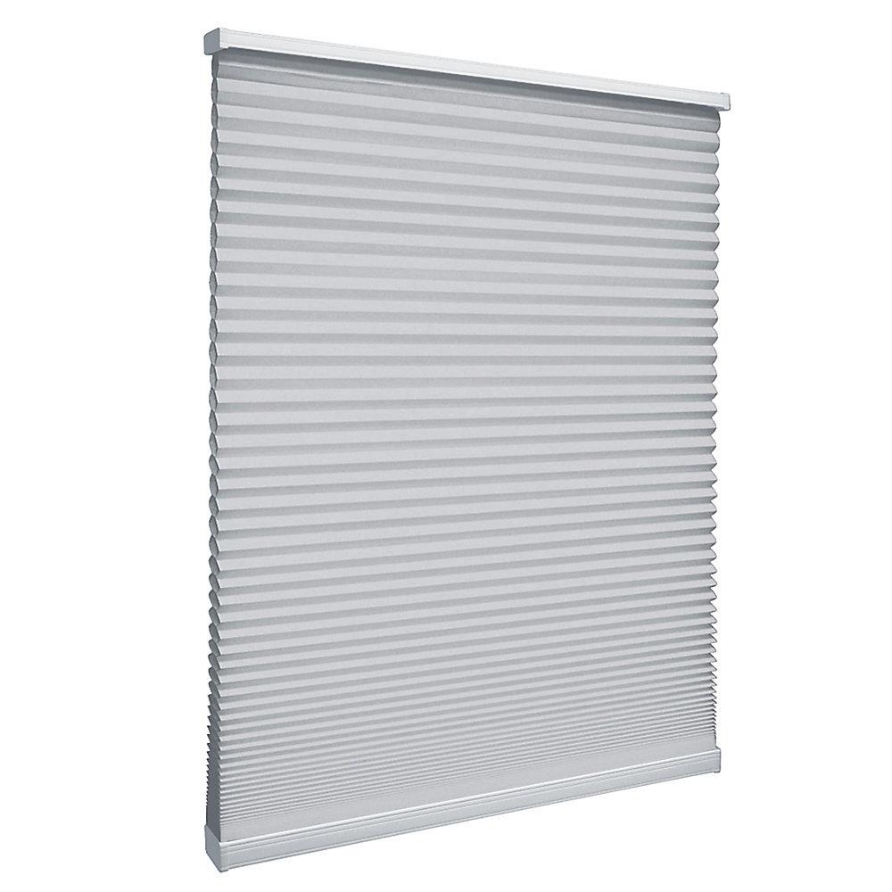 Store alvéolaire filtrant la lumière sans cordon Argent 140.3cm x 162.6cm