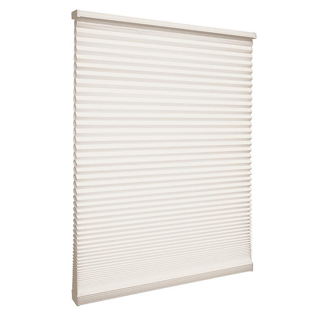 Store alvéolaire filtrant la lumière sans cordon Naturel 154.3cm x 182.9cm