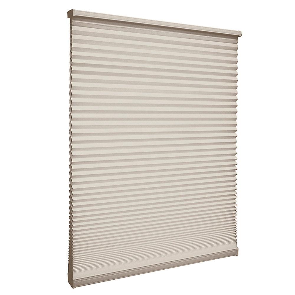 Store alvéolaire filtrant la lumière sans cordon Muscade 40cm x 182.9cm