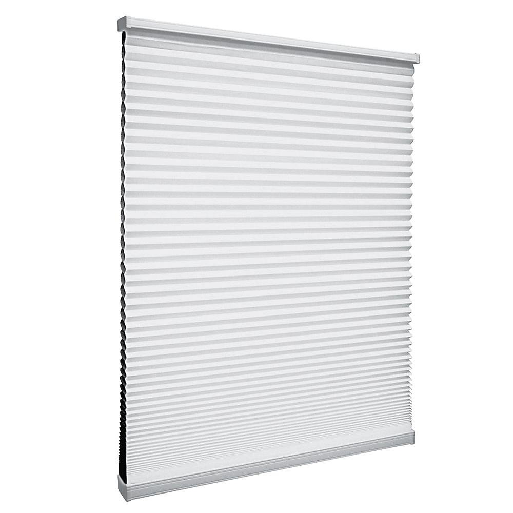 Cordless Blackout Cellular Shade Shadow White 25.75-inch x 64-inch