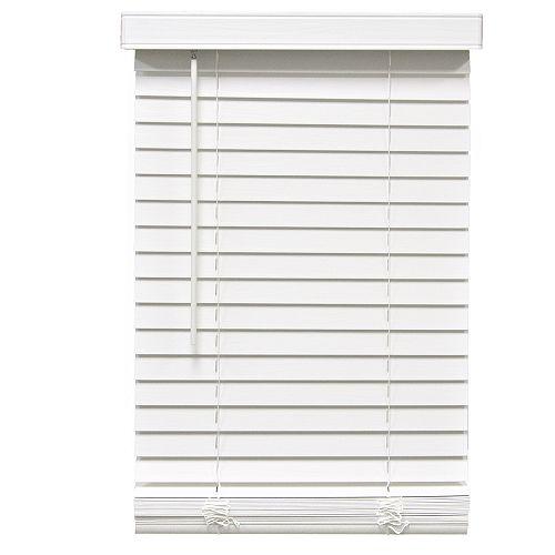 Home Decorators Collection Stores en similibois sans cordon de 5,08cm (2po) Blanc 54.6cm x 162.6cm