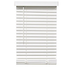 2-inch Cordless Faux Wood Blind White 22-inch x 64-inch