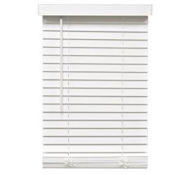 Home Decorators Collection Stores en similibois sans cordon de 5,08cm (2po) Blanc 161.3cm x 182.9cm