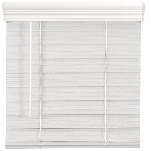 2.5-inch Cordless Premium Faux Wood Blind White 23-inch x 48-inch