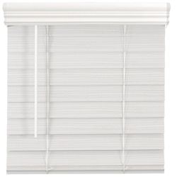 Home Decorators Collection 2.5-inch Cordless Premium Faux Wood Blind White 61.25-inch x 48-inch
