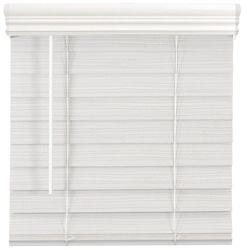 Home Decorators Collection Store en similibois de qualité supérieure sans cordon de 6,35cm (2po) Blanc 61cm x 162.6cm