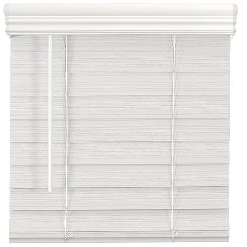 Home Decorators Collection 2.5-inch Cordless Premium Faux Wood Blind White 27-inch x 64-inch