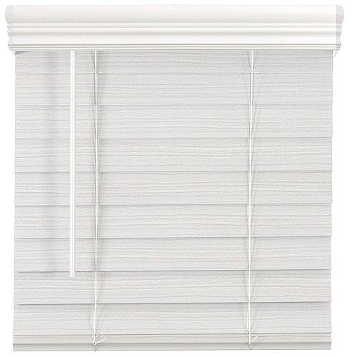Home Decorators Collection Store en similibois de qualité supérieure sans cordon de 6,35cm (2po) Blanc 81.9cm x 182.9cm