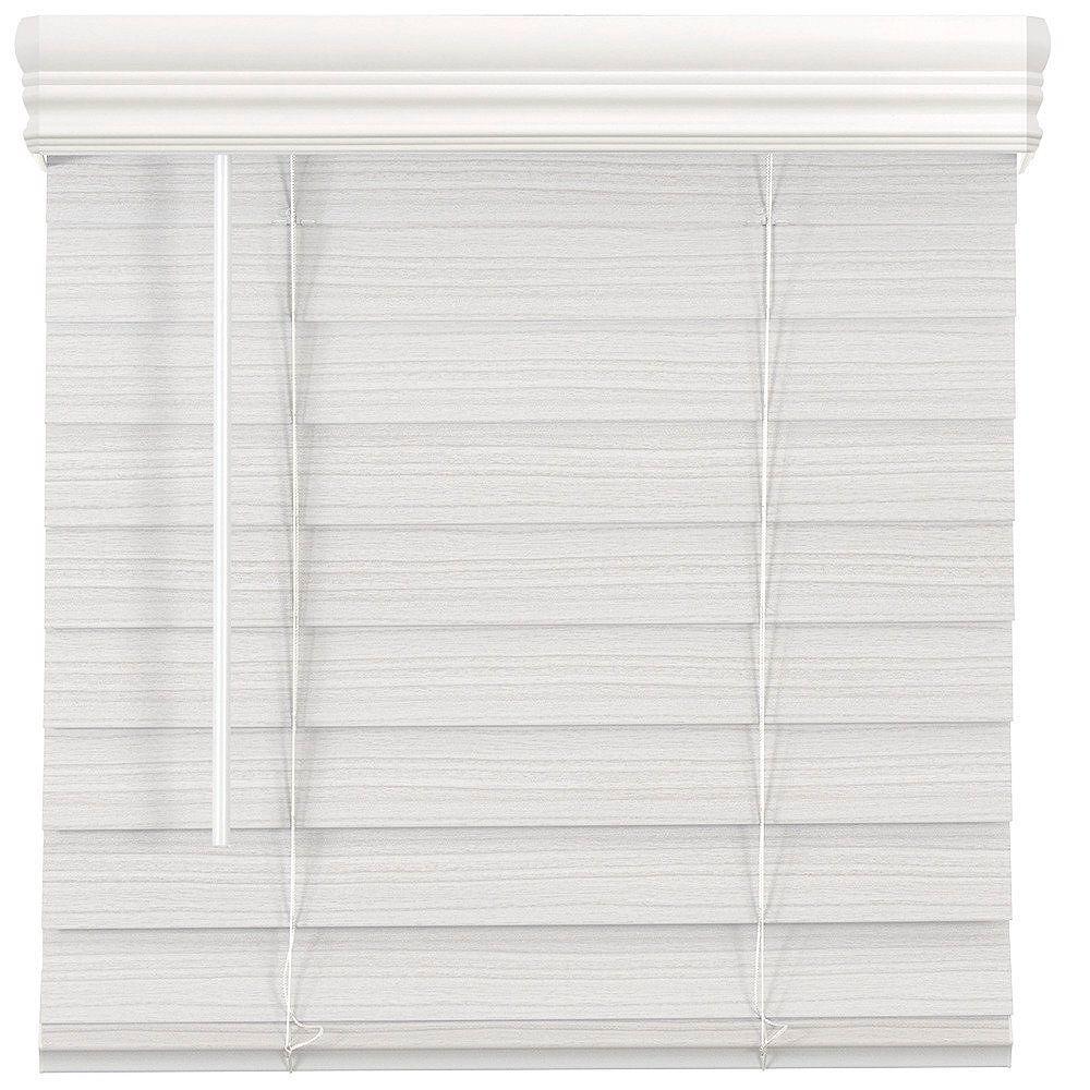 Home Decorators Collection Store en similibois de qualité supérieure sans cordon de 6,35cm (2po) Blanc 116.8cm x 182.9cm