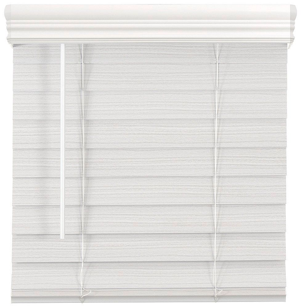 Home Decorators Collection 2.5-inch Cordless Premium Faux Wood Blind White 59.5-inch x 72-inch