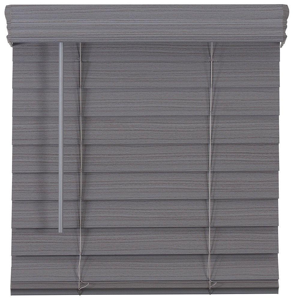 Home Decorators Collection Store en similibois de qualité supérieure sans cordon de 6,35cm (2po) Gris 150.5cm x 121.9cm
