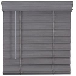 Home Decorators Collection 2.5-inch Cordless Premium Faux Wood Blind Grey 25.25-inch x 72-inch