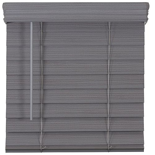 Home Decorators Collection 2.5-inch Cordless Premium Faux Wood Blind Grey 50.25-inch x 72-inch