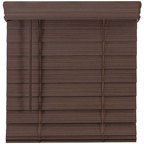 Home Decorators Collection 2.5-inch Cordless Premium Faux Wood Blind Espresso 23-inch x 48-inch