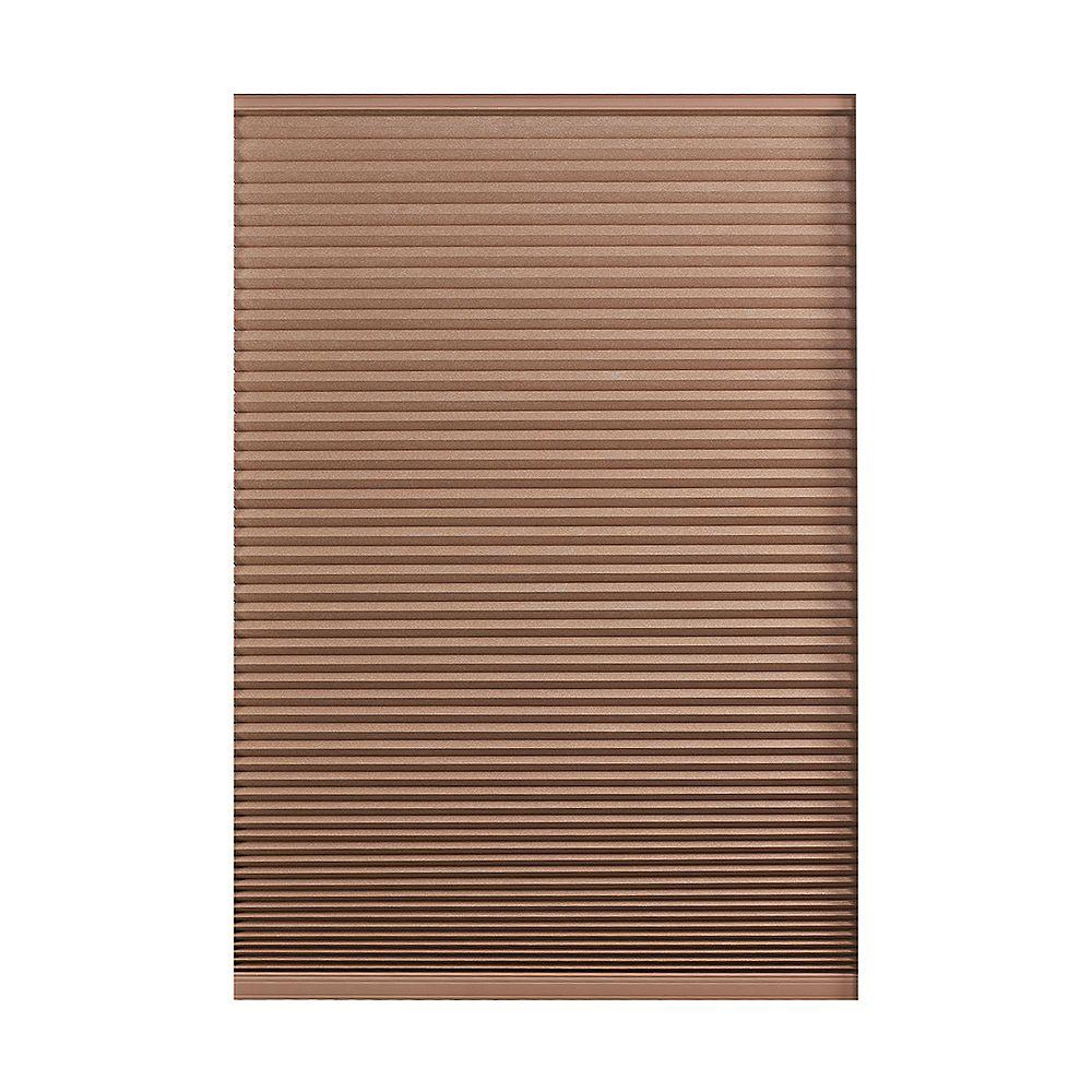 Home Decorators Collection Store alvéolaire obscurité totale sans cordon Expresso Foncé 103.5cm x 121.9cm