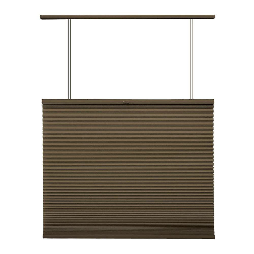 Home Decorators Collection Cordless Top Down/Bottom Up Cellular Shade Espresso 53.75-inch x 48-inch