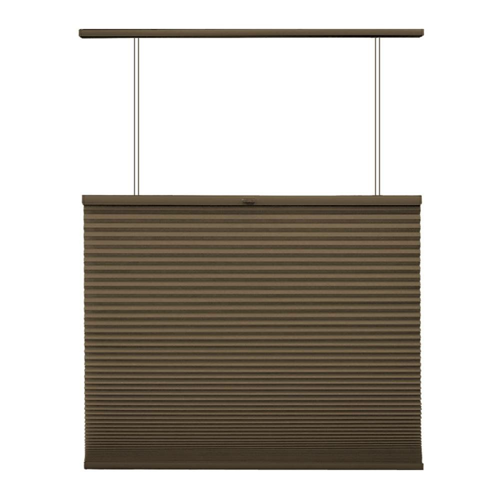 Home Decorators Collection Cordless Top Down/Bottom Up Cellular Shade Espresso 66.25-inch x 72-inch