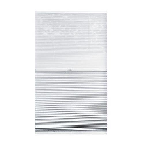 Home Decorators Collection Alvéolaire sans cordon pour le jour et la nuit voilage et Blanc Ombré 45.7cm x 121.9cm