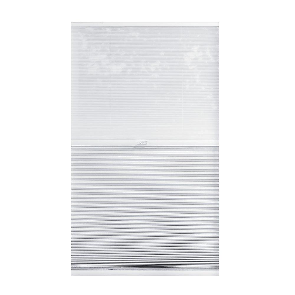 Alvéolaire sans cordon pour le jour et la nuit voilage et Blanc Ombré 133.4cm x 121.9cm