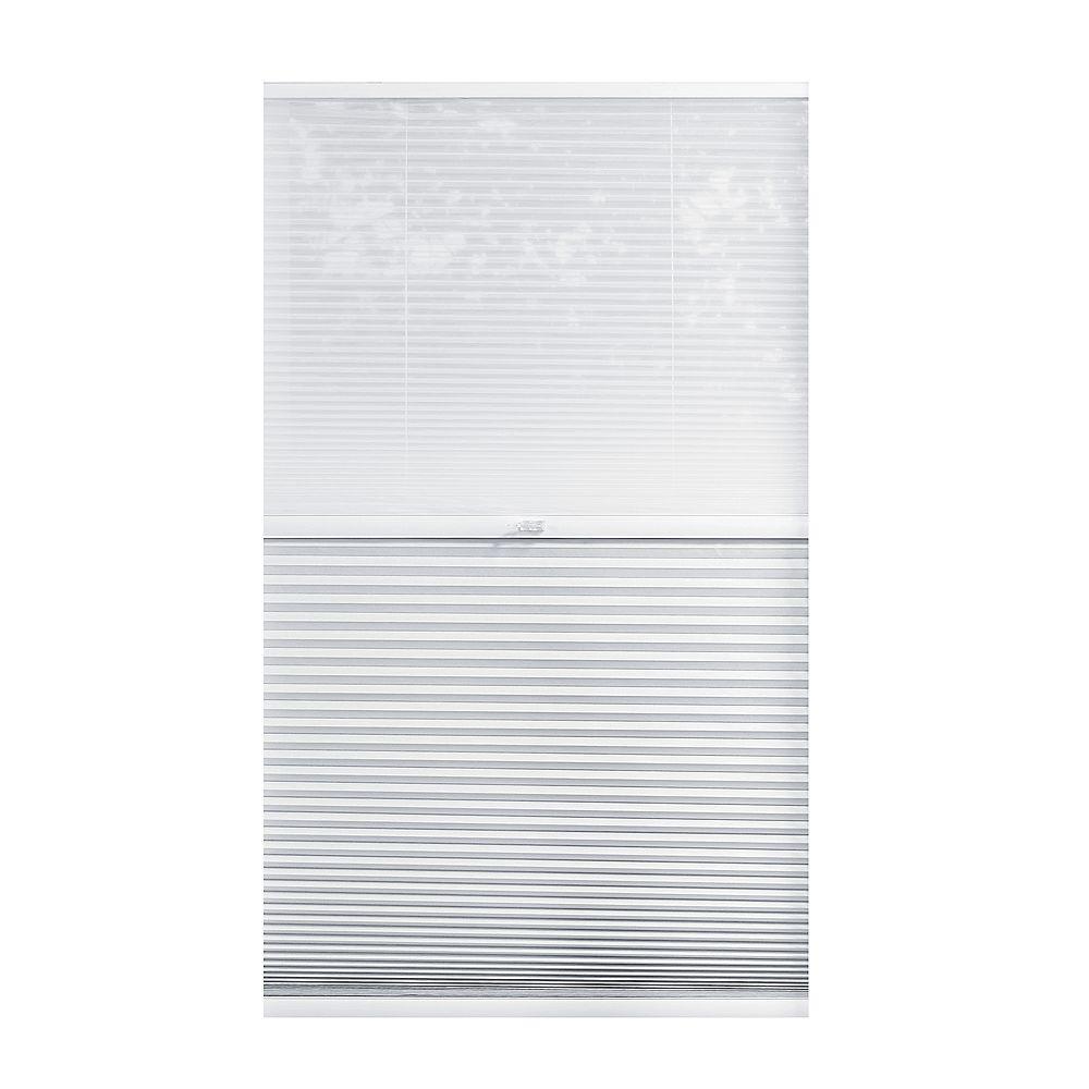 Home Decorators Collection Alvéolaire sans cordon pour le jour et la nuit voilage et Blanc Ombré 37.5cm x 182.9cm