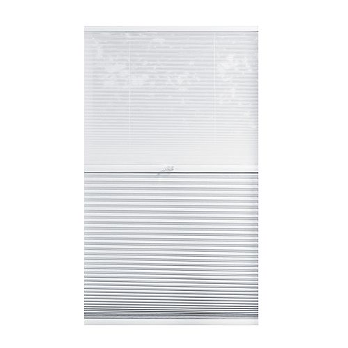 Home Decorators Collection Alvéolaire sans cordon pour le jour et la nuit voilage et Blanc Ombré 61cm x 182.9cm
