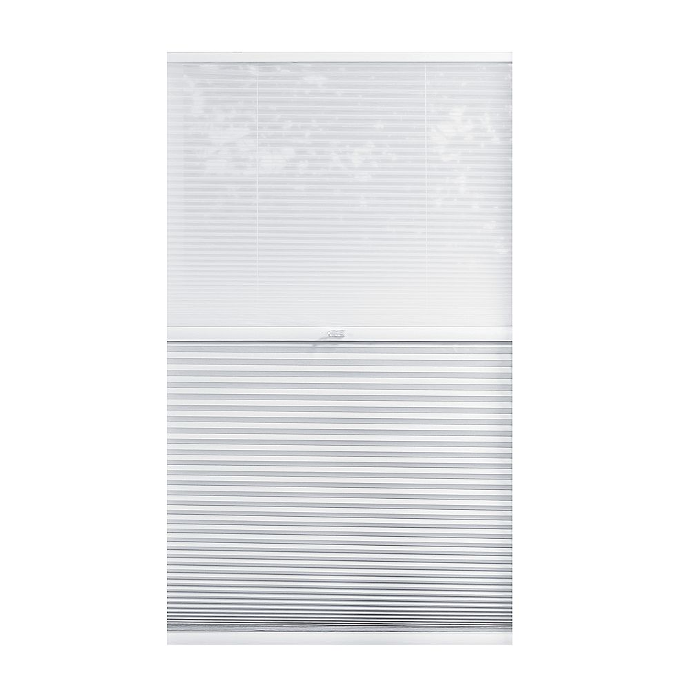 Home Decorators Collection Cordless Day/Night Cellular Shade Sheer/Shadow White 25-inch x 72-inch