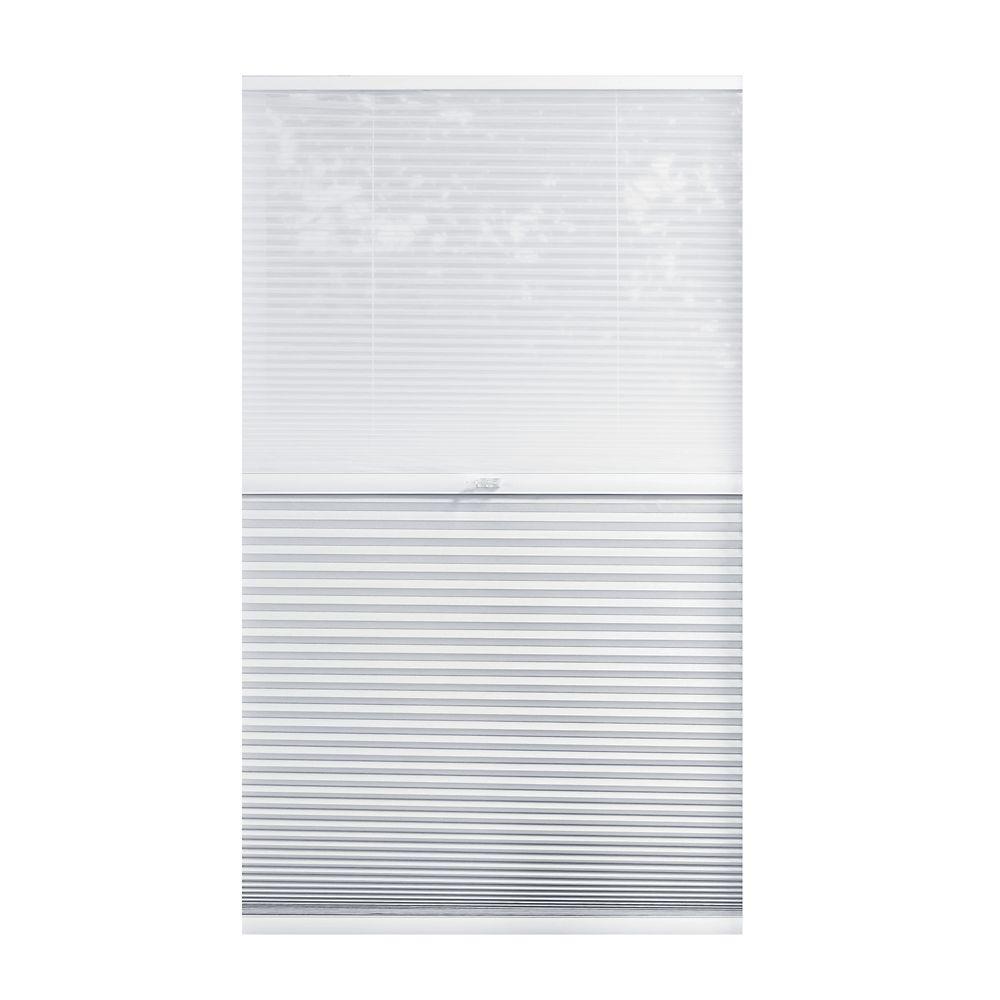 Alvéolaire sans cordon pour le jour et la nuit voilage et Blanc Ombré 157.5cm x 182.9cm