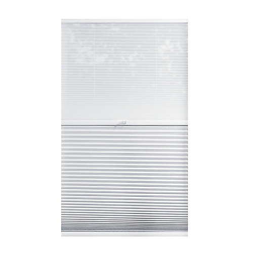 Cordless Day/Night Cellular Shade Sheer/Shadow White 64.25-inch x 72-inch