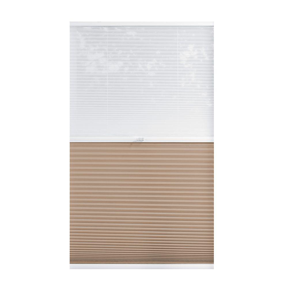 Cordless Day/Night Cellular Shade Sheer/Sahara 16-inch x 48-inch