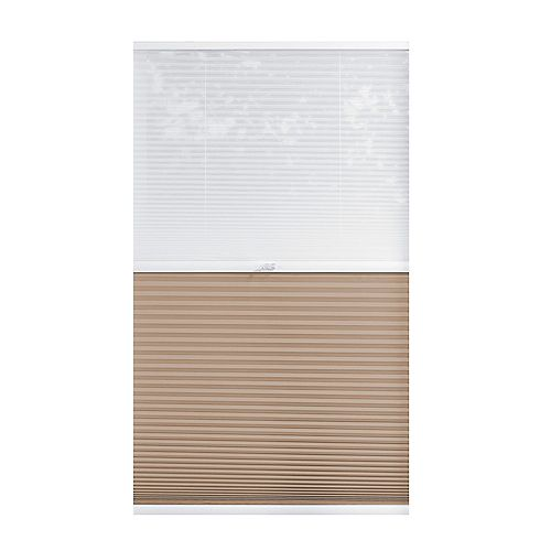 Home Decorators Collection Alvéolaire sans cordon pour le jour et la nuit voilage et Sahara 95.9cm x 121.9cm