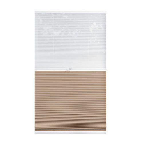 Home Decorators Collection Alvéolaire sans cordon pour le jour et la nuit voilage et Sahara 43.8cm x 182.9cm