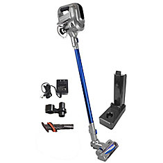Cordless Stick Vacuum from Cana-Vac, Bagless, Light, Power Nozzle, Lithium Battery, Accessories