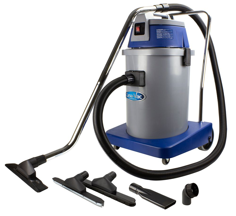 Canavac Wet & Dry Commecial Heavy Duty Vacuum Pro from Cana-Vac, 9 gal (35 L) Tank & Accessories