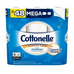 Cottonelle Ultra CleanCare Septic-Safe Strong Bath Tissue Mega Roll (12-Pack)