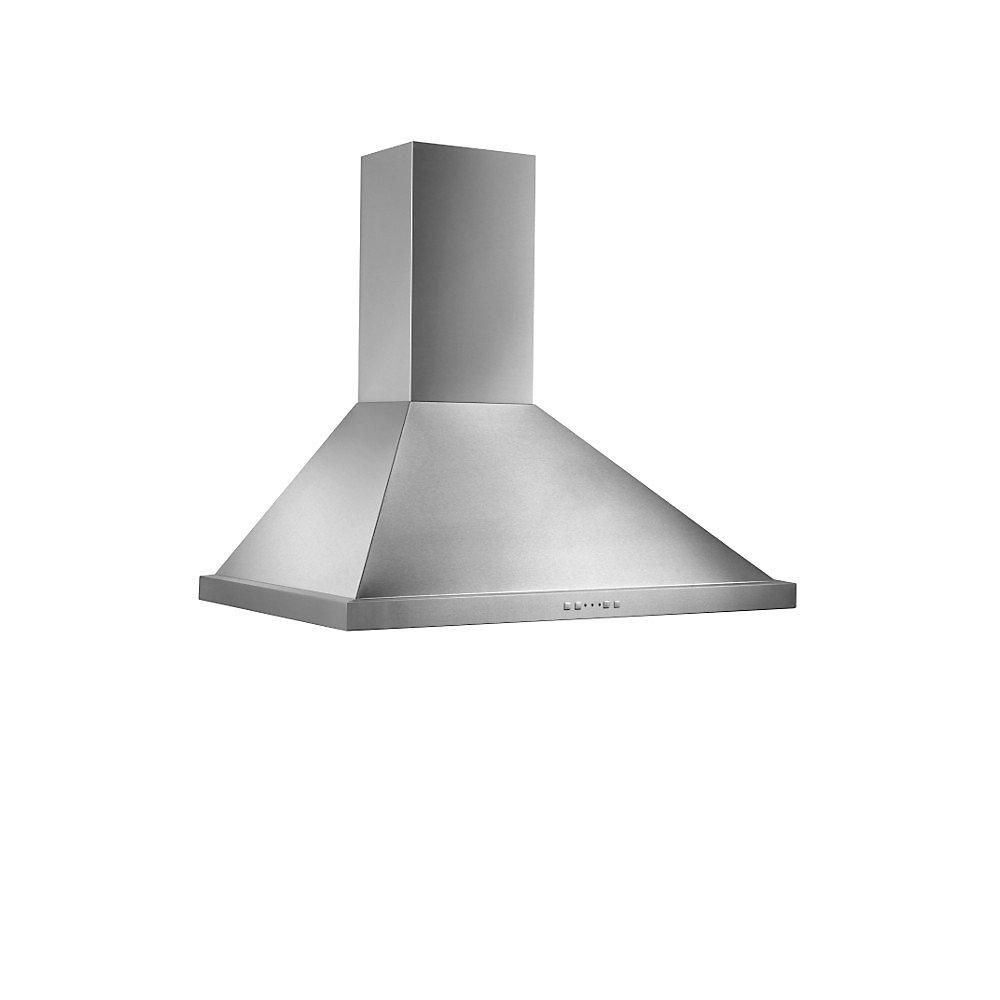 30 inch 500 CFM Chimney style range hood in stainless steel