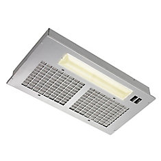 20.5 inch 250 CFM Power pack range hood in silver painted