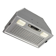 20.5 inch 390 CFM Power pack range hood in silver painted