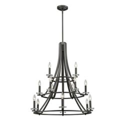 Filament Design 15-Light Bronze Chandelier - 32 inch
