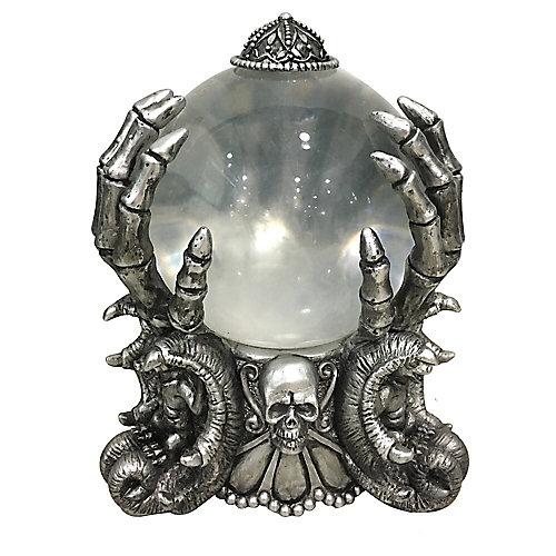 8 inch LED Skeleton Fortune Teller Crystal Ball