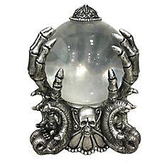 20,3 cm Boule en cristal de diseuse de bonne aventure squelette à DEL