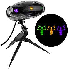 Projection de spectacle lumineux avec son-Fright Flickers-Squelette (GOP)