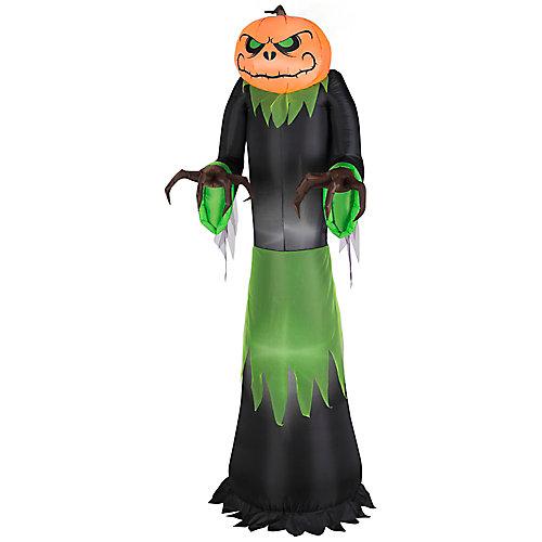 5 ft. Airblown Pumpkin Reaper Halloween Decoration