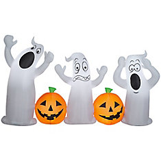 Airblown-Pumpkin and Ghost Collection Scene
