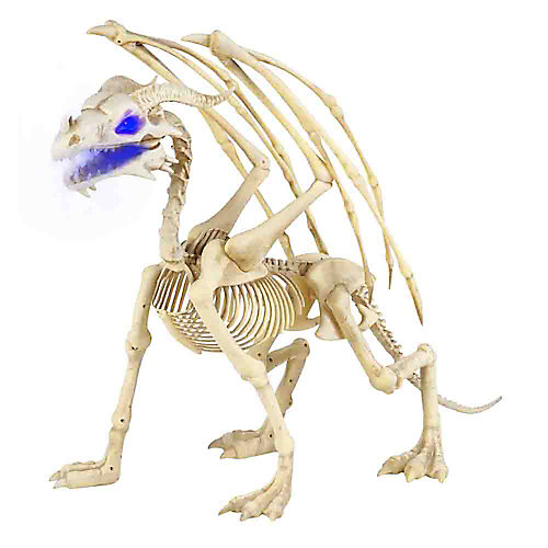 3.5 ft. Animated LED Skeleton Dragon