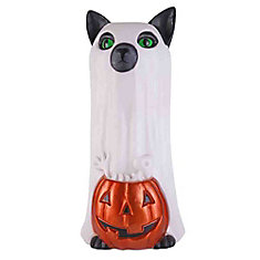 16.5 inch LED Jack-O-Lantern and Cat with Timer