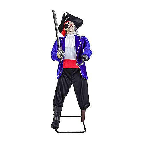 5 ft. Animated LED Skeleton Pirate