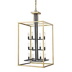 Filament Design 12-Light Olde Brass and Bronze Chandelier - 20 inch