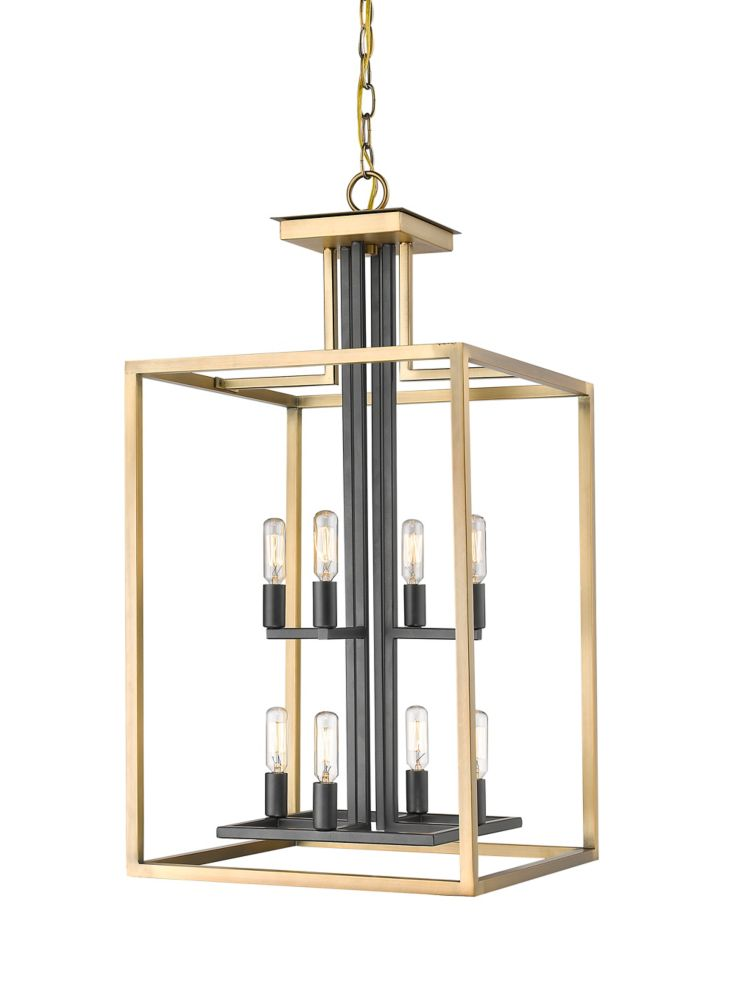 Filament Design 8-Light Olde Brass and Bronze Chandelier - 15 inch