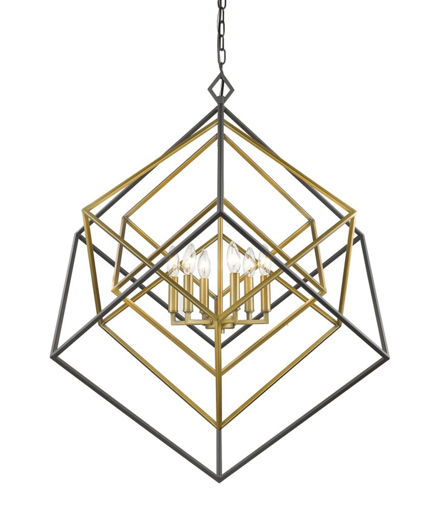 Filament Design 6-Light Olde Brass and Bronze Chandelier - 35.5 inch