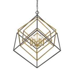 Filament Design 6-Light Olde Brass and Bronze Chandelier - 35.5 inch